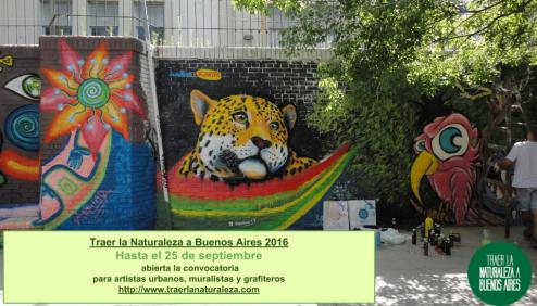 Muralismo Traer la Naturaleza a Buenos Aires