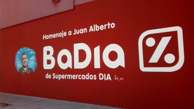 Mural homenaje a Juan Alberto Badia