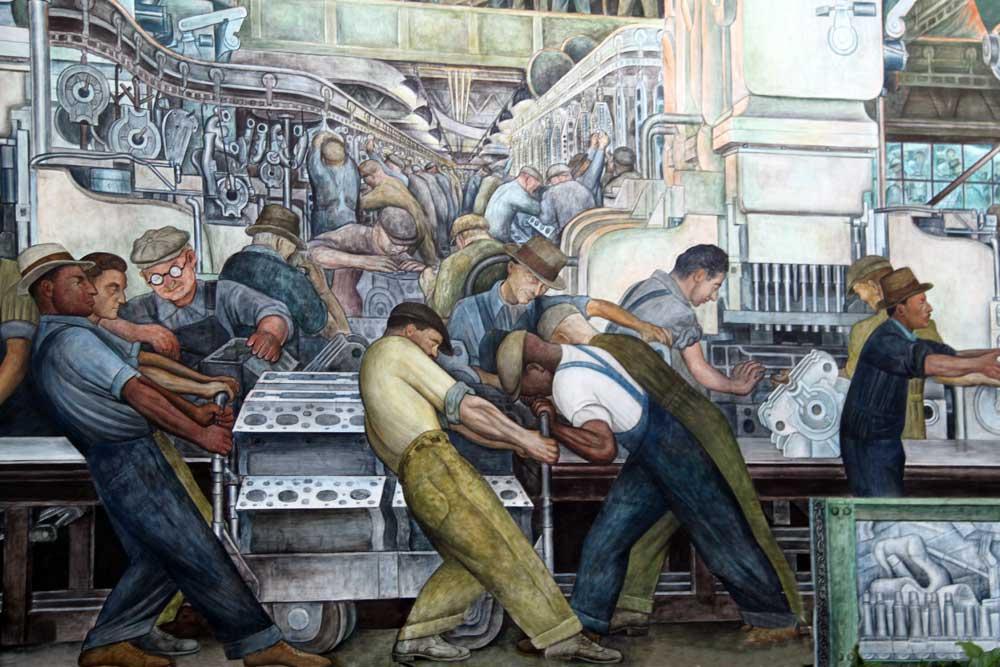 Bocetos De Murales De Diego Rivera
