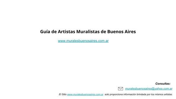 Guia de Artistas Muralistas de Buenos Aires