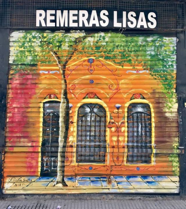 Magdalena Castilla Sastre mural en Once