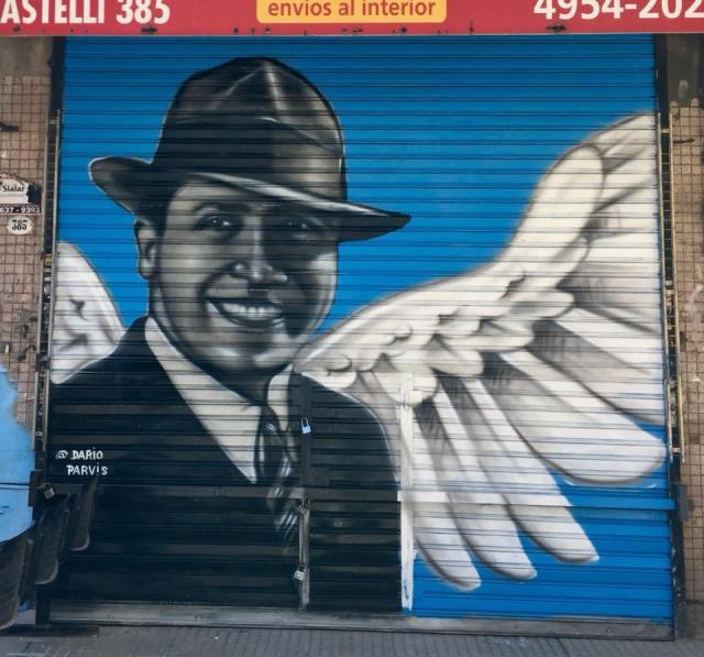 Dario Parvis mural en Once