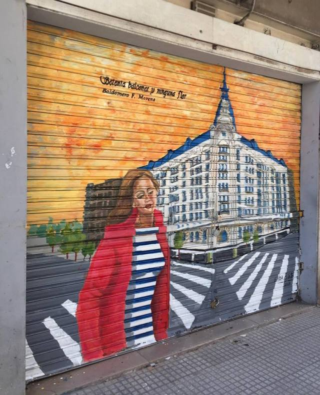Gilda Filato mural en Once