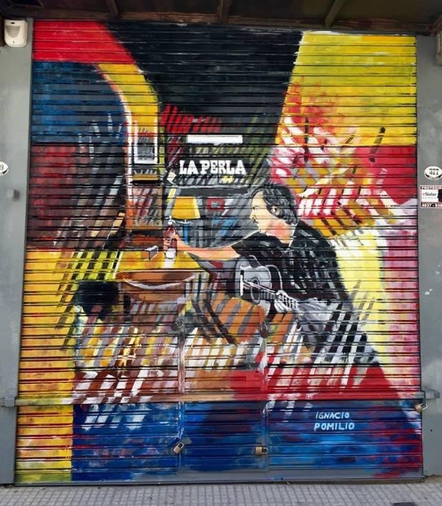 Ignacio Pomilio mural en Once