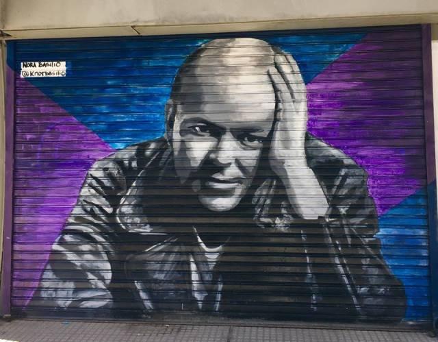 Nora Basilio mural en Once