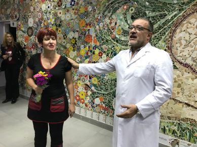 Karina Zinik y Dr. Rubén Almada SubDirector Médico de la Maternidad Sardá