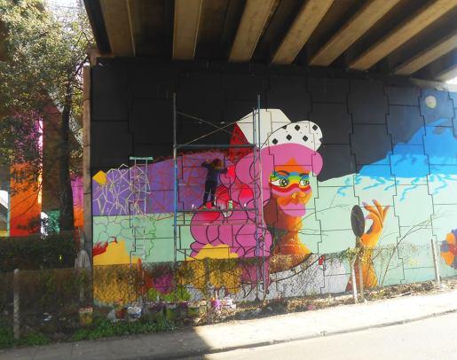 Muralismo Mujeres, Bajo Puente