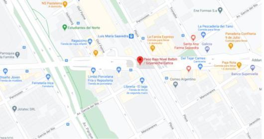 Mapa ubicación Bajo Puente Mural Goyeneche Gatica